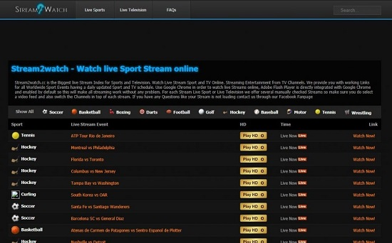Stream2Watch Website